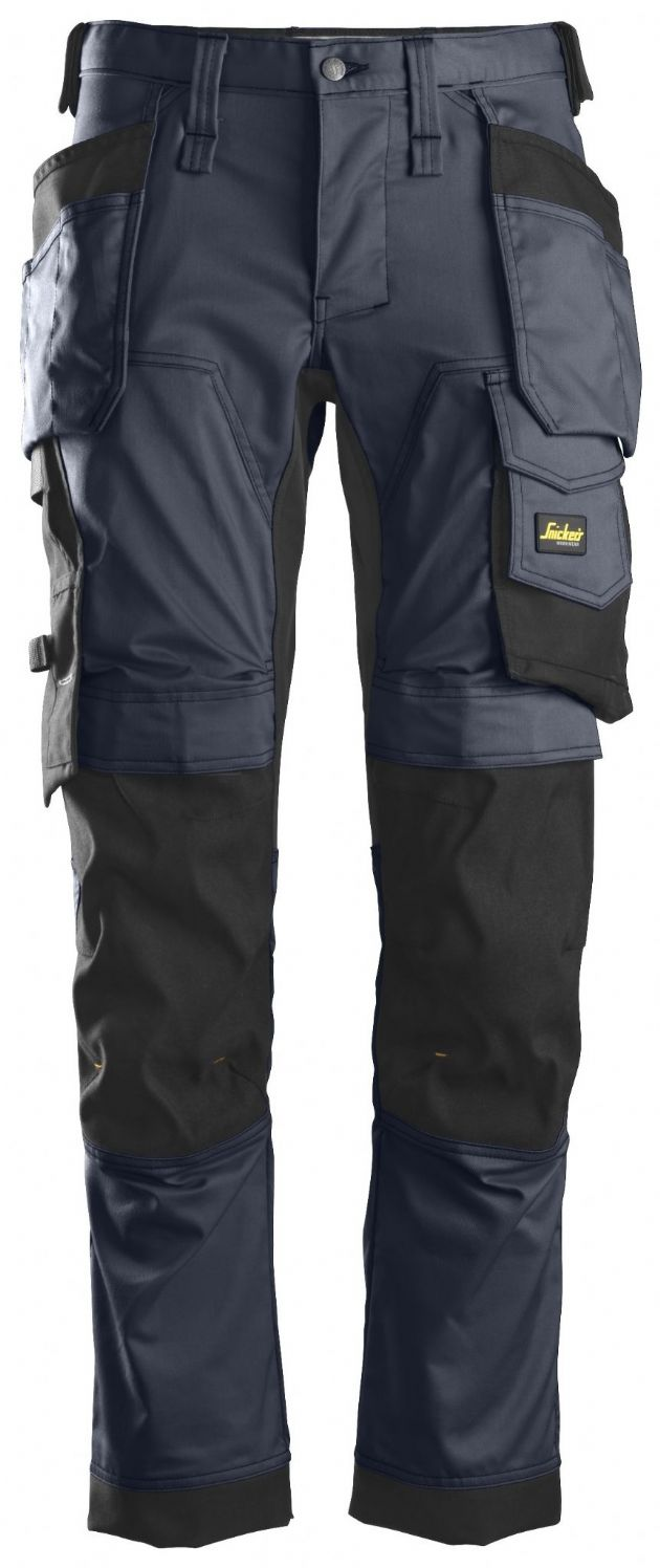 Snickers 6241 AllroundWork Stretch Work Trousers with Holster Pockets| Navy/Black | TuffShop.co.uk